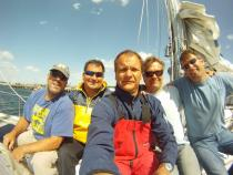 The crew from Bermuda to Nahant arrived in Gloucester, MA