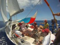 in between Antigua and St Barth's